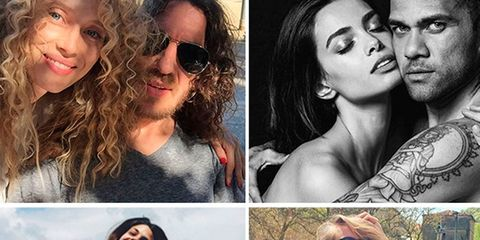Eyewear, Lip, Photograph, Happy, Summer, People in nature, Facial expression, Style, Beauty, Collage,