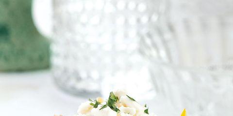 Food, Cuisine, Dish, Ingredient, Recipe, Dishware, Logo, Serveware, Vegetarian food, Side dish,