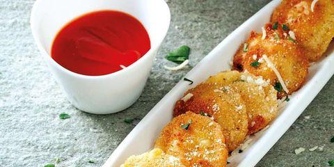 Food, Finger food, Cuisine, Dish, Ingredient, Plate, Fried food, Liquid, Carmine, Fast food,