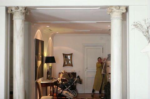 Room, Interior design, Ceiling, Musical instrument, Drum, Molding, Lamp, Door, Column, Membranophone,