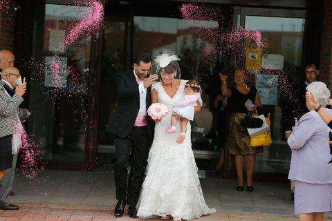 Clothing, Leg, Event, Dress, Trousers, Human body, Coat, Shirt, Bridal clothing, Photograph,