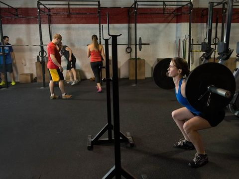 Human leg, Chin, Physical fitness, Shoulder, Exercise equipment, Exercise, Room, Standing, Joint, Chest,