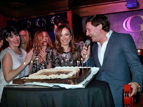 Smile, Dessert, Cake, Cuisine, Party, Baked goods, Friendship, Dish, Ingredient, Laugh,