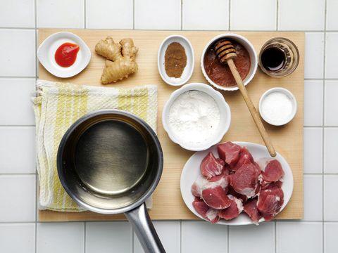 Food, Ingredient, Dish, Cuisine, Tableware, Meal, Dishware, Frying pan, Bowl, Kitchen utensil,