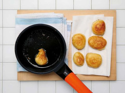 Food, Cuisine, Ingredient, Dish, Finger food, Recipe, Cooking, Frying pan, Cookware and bakeware, Deep frying,