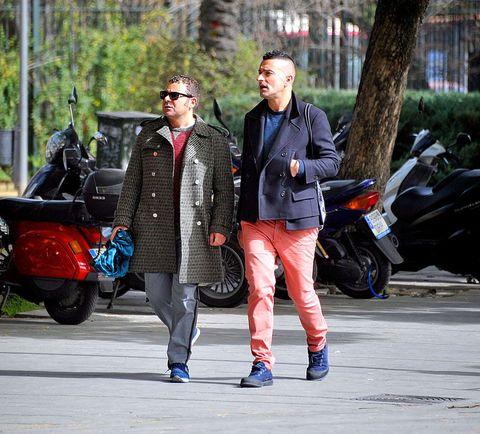 Clothing, Tire, Trousers, Jacket, Coat, Textile, Outerwear, Bag, Sunglasses, Fender,