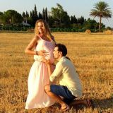 Photograph, Happy, Plain, People in nature, Summer, Field, Interaction, Dress, Grass family, Grassland,