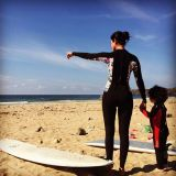 Fun, Standing, Surfboard, Photograph, Surfing Equipment, Landscape, Sand, Atmosphere, People in nature, Shore,