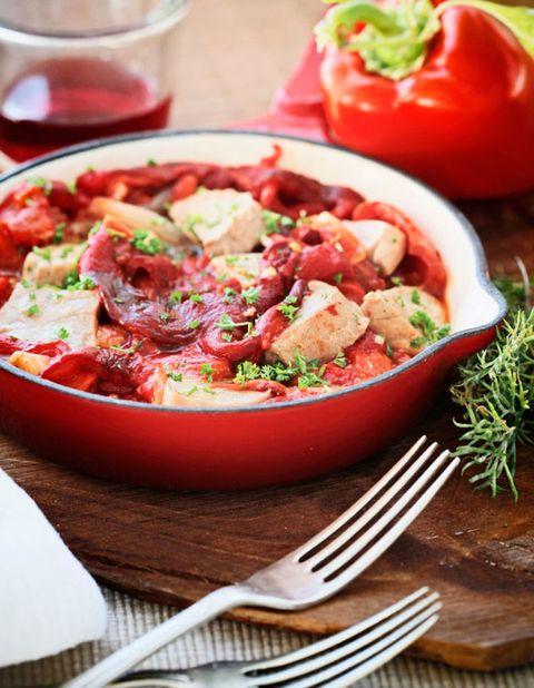 Food, Ingredient, Dishware, Cuisine, Tableware, Dish, Bell pepper, Cutlery, Produce, Recipe,