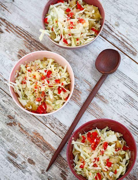 Food, Cuisine, Tableware, Meal, Recipe, Dish, Ingredient, Kitchen utensil, Salad, Spoon,