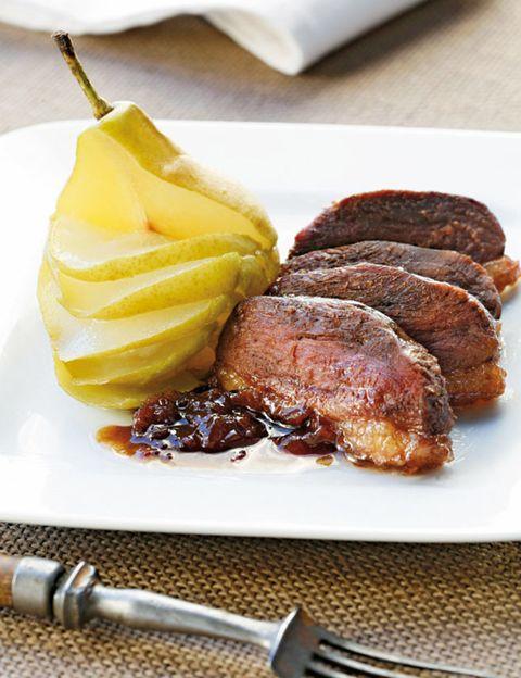 Food, Ingredient, Beef, Dishware, Cuisine, Tableware, Plate, Pork, Fruit, Kitchen utensil,