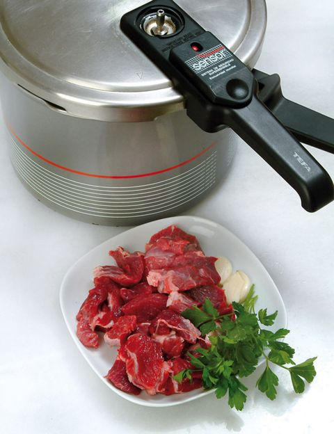 Food, Ingredient, Small appliance, Tableware, Red meat, Home appliance, Kitchen appliance, Leaf vegetable, Ostrich meat, Recipe,