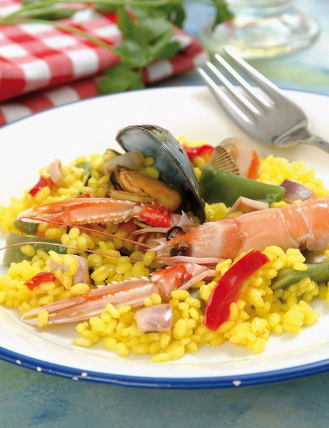 Dish, Cuisine, Food, Rice, Arroz a la valenciana, Ingredient, Thai fried rice, Saffron rice, Paella, Produce,
