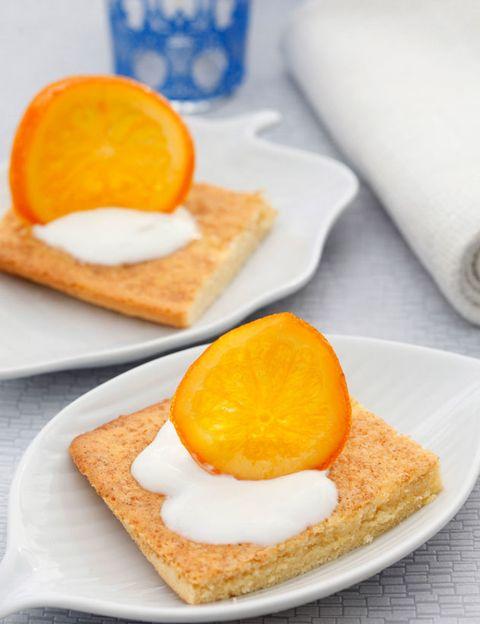 Food, Finger food, Ingredient, Meal, Orange, Breakfast, Tableware, Plate, Serveware, Baked goods,