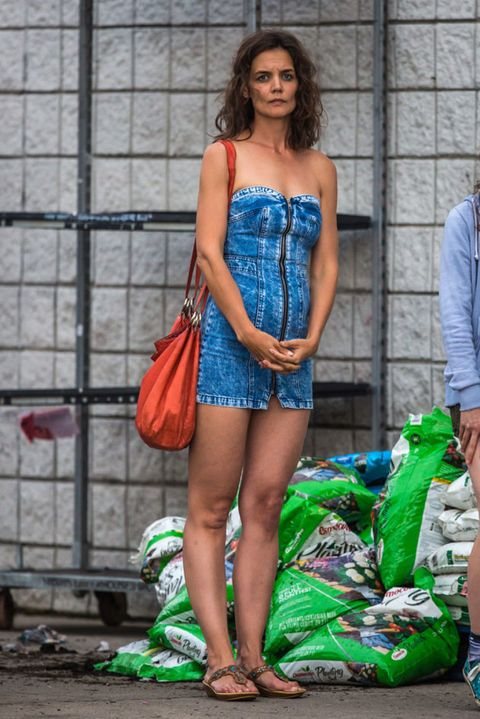Blue, Bag, Dress, Street fashion, Fashion, Electric blue, Waist, Thigh, Luggage and bags, Cobalt blue,