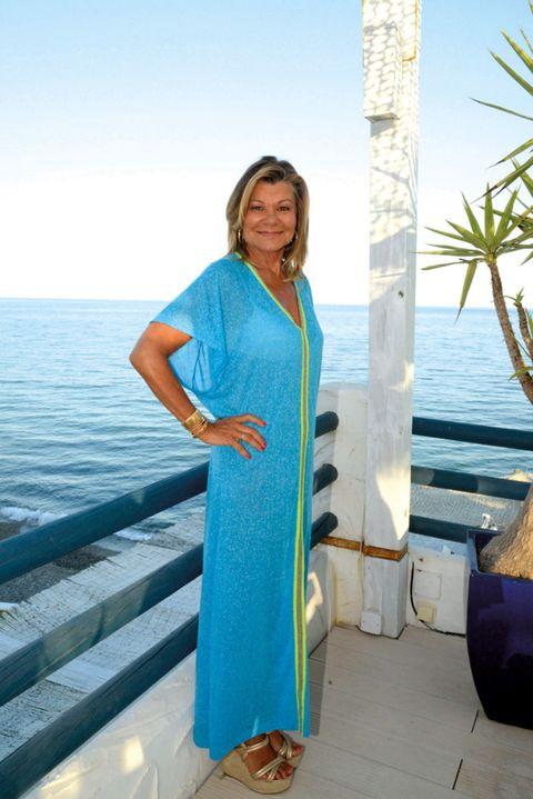 Blue, Sleeve, Shoulder, Dress, Teal, Aqua, Turquoise, Ocean, Azure, Electric blue,