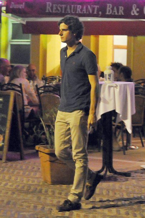 Leg, Purple, Chair, Violet, Street fashion, Khaki pants, Ankle,