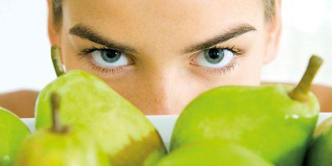 Hair, Green, Eyebrow, Food, Natural foods, Whole food, Vegan nutrition, Eyelash, Produce, Ingredient,