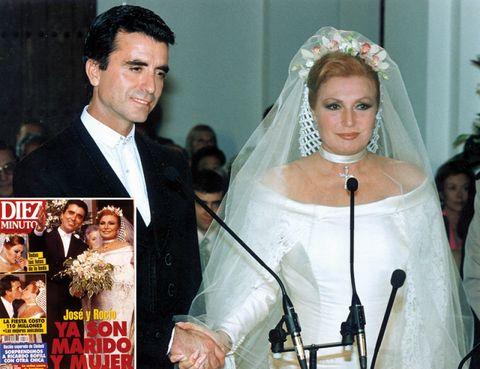 Face, Hair, Head, Bridal veil, Veil, Coat, Formal wear, Suit, Bridal clothing, Tradition,