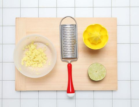 Yellow, Kitchen utensil, Tableware, Fruit, Tile, Ingredient, Lemon, Citrus, Dishware, Cutlery,