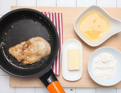 Food, Ingredient, Meal, Cookware and bakeware, Cooking, Frying pan, Serveware, Dish, Dishware, Recipe,