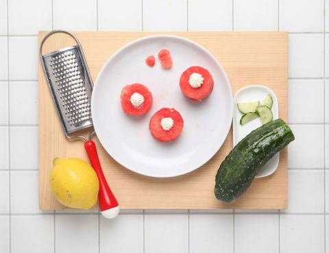 Food, Dishware, Ingredient, Vegetable, Produce, Plate, Tableware, Whole food, Kitchen utensil, Cucumber,