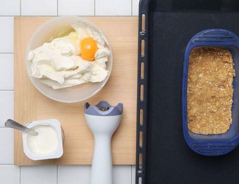 Food, Ingredient, Meal, Kitchen utensil, Dairy, Breakfast, Food storage containers, Bread pan, Mascarpone, Urinal,