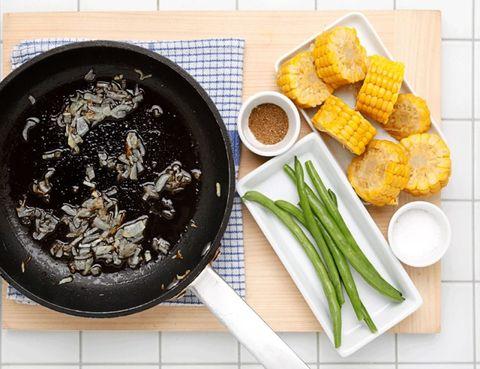 Food, Ingredient, Cuisine, Finger food, Fried food, Dish, Recipe, Tableware, Leaf vegetable, Cookware and bakeware,