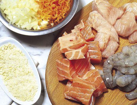 Food, Cuisine, Ingredient, Dish, Tableware, Recipe, Plate, Seafood, Salmon, Dishware,