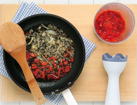 Food, Cuisine, Ingredient, Cookware and bakeware, Bowl, Tableware, Recipe, Condiment, Sauces, Frying pan,
