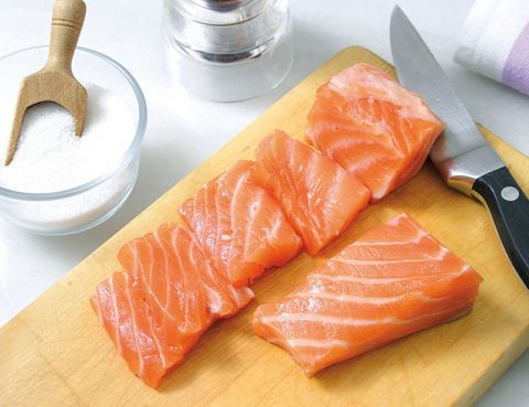 Food, Ingredient, Cuisine, Salmon, Orange, Seafood, Sashimi, Fish slice, Peach, Lox,