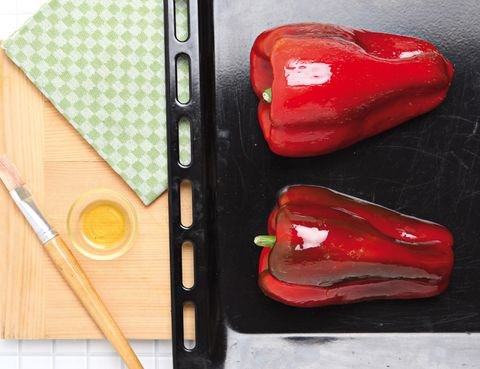 Red, Bell pepper, Carmine, Bell peppers and chili peppers, Red bell pepper, Kitchen utensil, Capsicum, Pimiento, Still life photography, Smoking accessory,