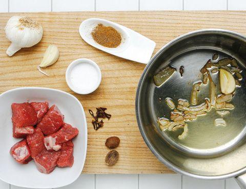 Food, Ingredient, Dishware, Cuisine, Dish, Tableware, Plate, Metal, Powder, Serveware,