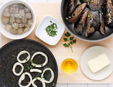 Ingredient, Food, Dishware, Seafood, Bowl, Serveware, Mixing bowl, Chemical compound, Fish, Kitchen utensil,