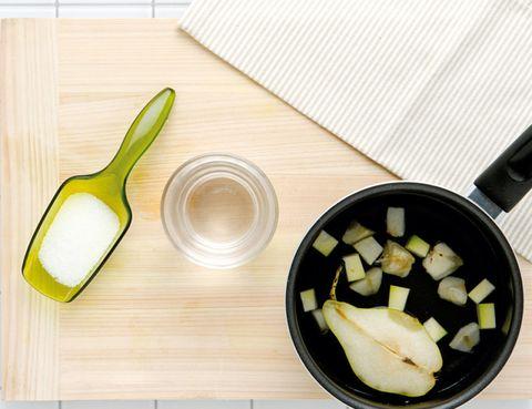 Wood, Food, Tableware, Dishware, Kitchen utensil, Cutting board, Produce, Ingredient, Hardwood, Recipe,