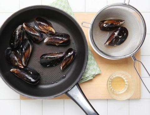 Food, Ingredient, Dishware, Kitchen utensil, Serveware, Cutlery, Plate, Spoon, Produce, Seafood,