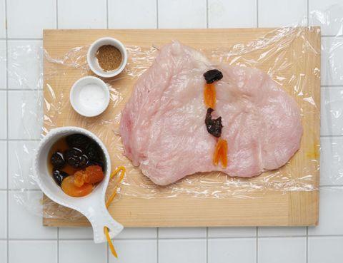 Food, Cuisine, Dish, Tableware, Serveware, Ingredient, Bowl, Peach, Animal product, Fish slice,
