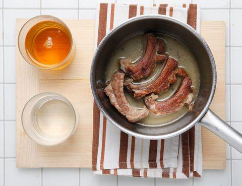 Food, Ingredient, Dishware, Meat, Serveware, Cuisine, Breakfast, Sausage, Dish, Tableware,