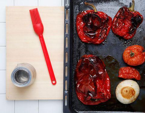 Food, Red, Ingredient, Tableware, Produce, Cutlery, Kitchen utensil, Recipe, Dish, Cuisine,