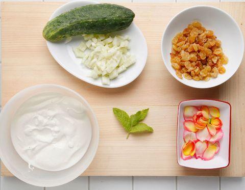 Food, Ingredient, Dishware, Produce, Cuisine, Tableware, Plate, Meal, Breakfast, Strained yogurt,
