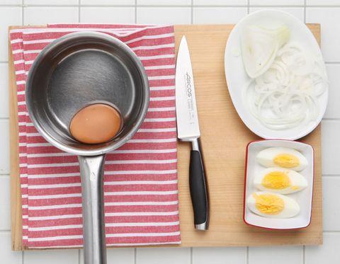 Dishware, Food, Ingredient, Kitchen utensil, Tableware, Cutlery, Serveware, Kitchen knife, Knife, Cutting board,