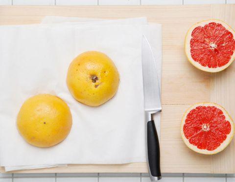 Food, Fruit, Produce, Ingredient, Seedless fruit, Citrus, Red, Grapefruit, Dishware, Natural foods,