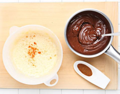 Food, Ingredient, Serveware, Cuisine, Paste, Condiment, Kitchen utensil, Dishware, Spoon, Chocolate,