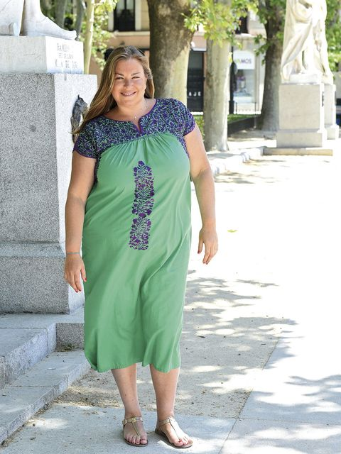 Green, Shoulder, Textile, Joint, Standing, Style, Summer, Dress, Street fashion, Teal,