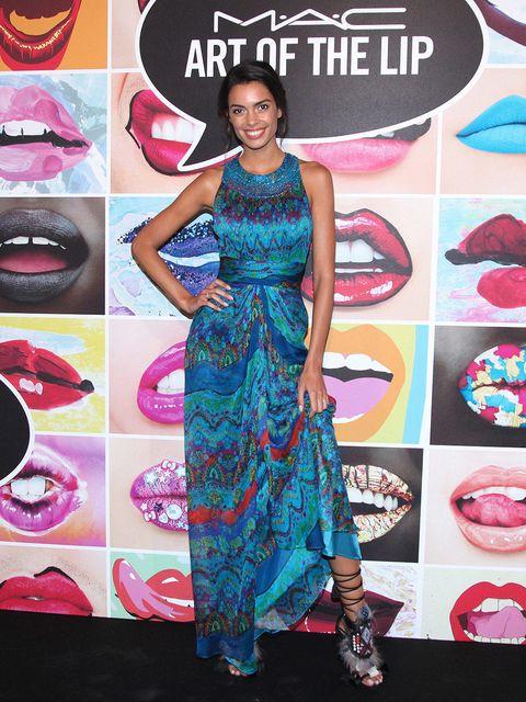 Human, Dress, Pink, Formal wear, Style, Fashion accessory, Pattern, One-piece garment, Fashion, Magenta,