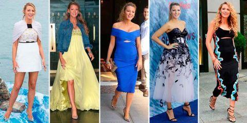 Clothing, Blue, Yellow, Shoulder, Dress, Style, Formal wear, One-piece garment, Electric blue, Waist,