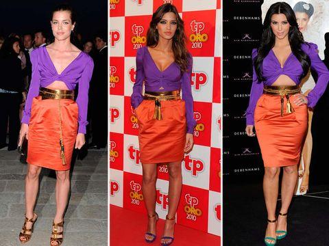 Clothing, Footwear, Leg, Red, Orange, Waist, Style, Fashion accessory, Fashion, Bag,