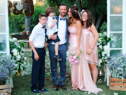 José María Gutiérrez 'Guti' y Romia Belluscio en su boda