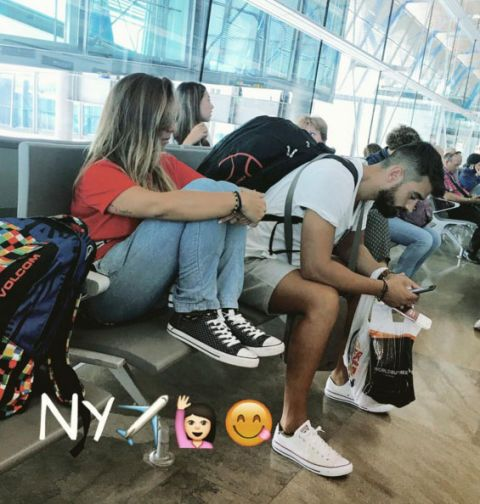 Leg, Jeans, T-shirt, Bag, Luggage and bags, Shorts, Denim, Youth, Street fashion, Sneakers,