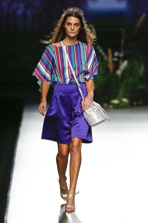Clothing, Shoulder, Fashion show, Joint, Human leg, Style, Fashion model, Runway, Street fashion, Fashion accessory,
